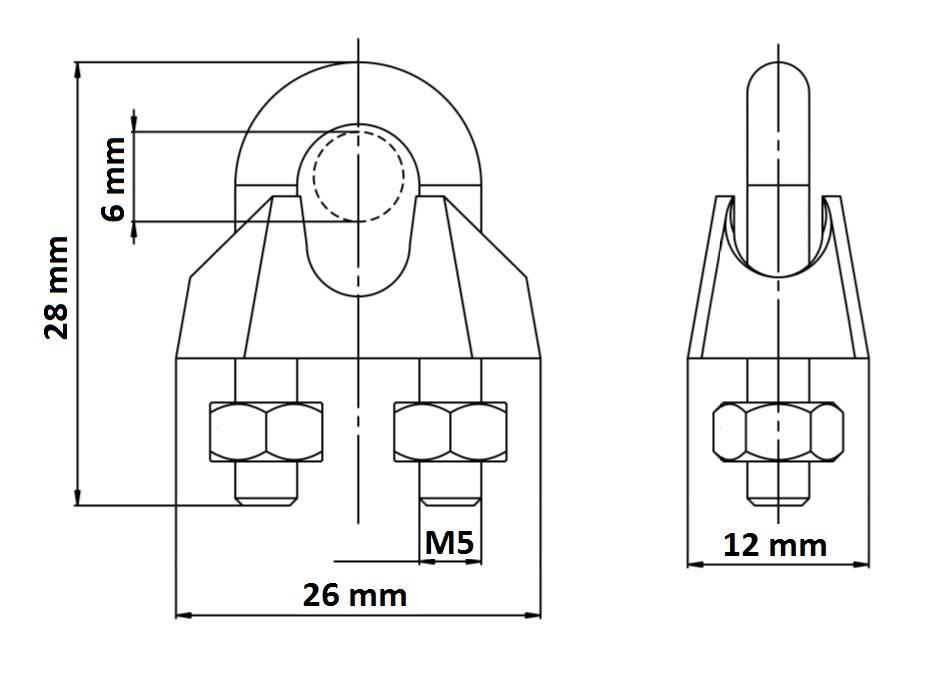 Simplex Duplex Egg Shape U Bolt Steel Wire Grip Grips
