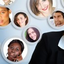 Social Network Of Businesswoman.