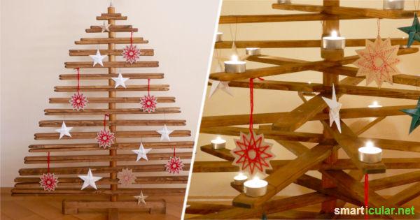 Bauanleitung fr einen faltbaren Christbaum aus Holz