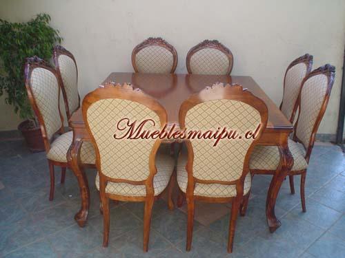 Comedor Normando 8 sillas cuadradowwwmueblesmaipucl