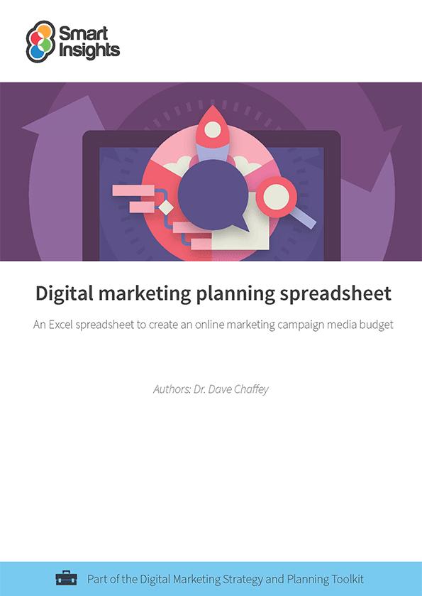 Digital marketing planning spreadsheet - Smart Insights Digital ...