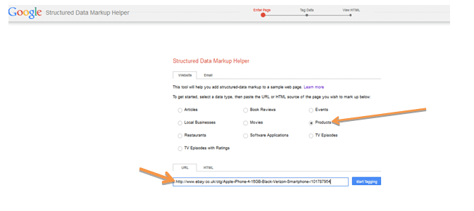 How to use the Structured Data Mark-up Helper for E
