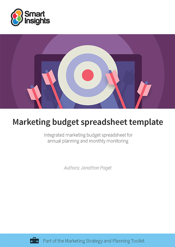 Marketing budget spreadsheet template | Smart Insights