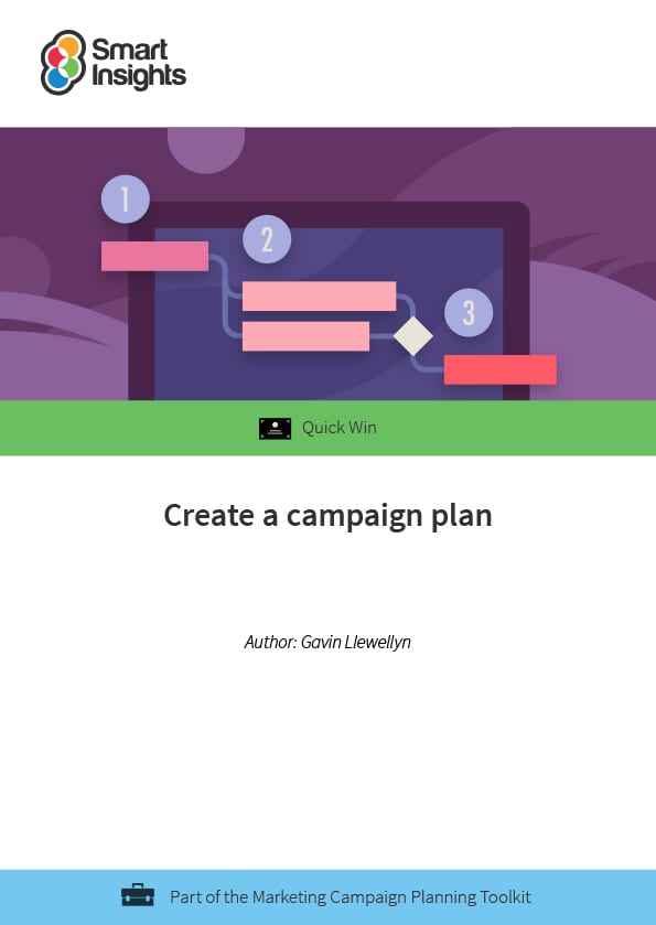 Create a campaign plan  Smart Insights