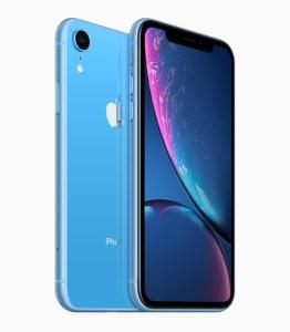 iPhone XR i blått.