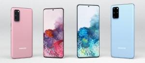 Samsung S20 i rosa og blå