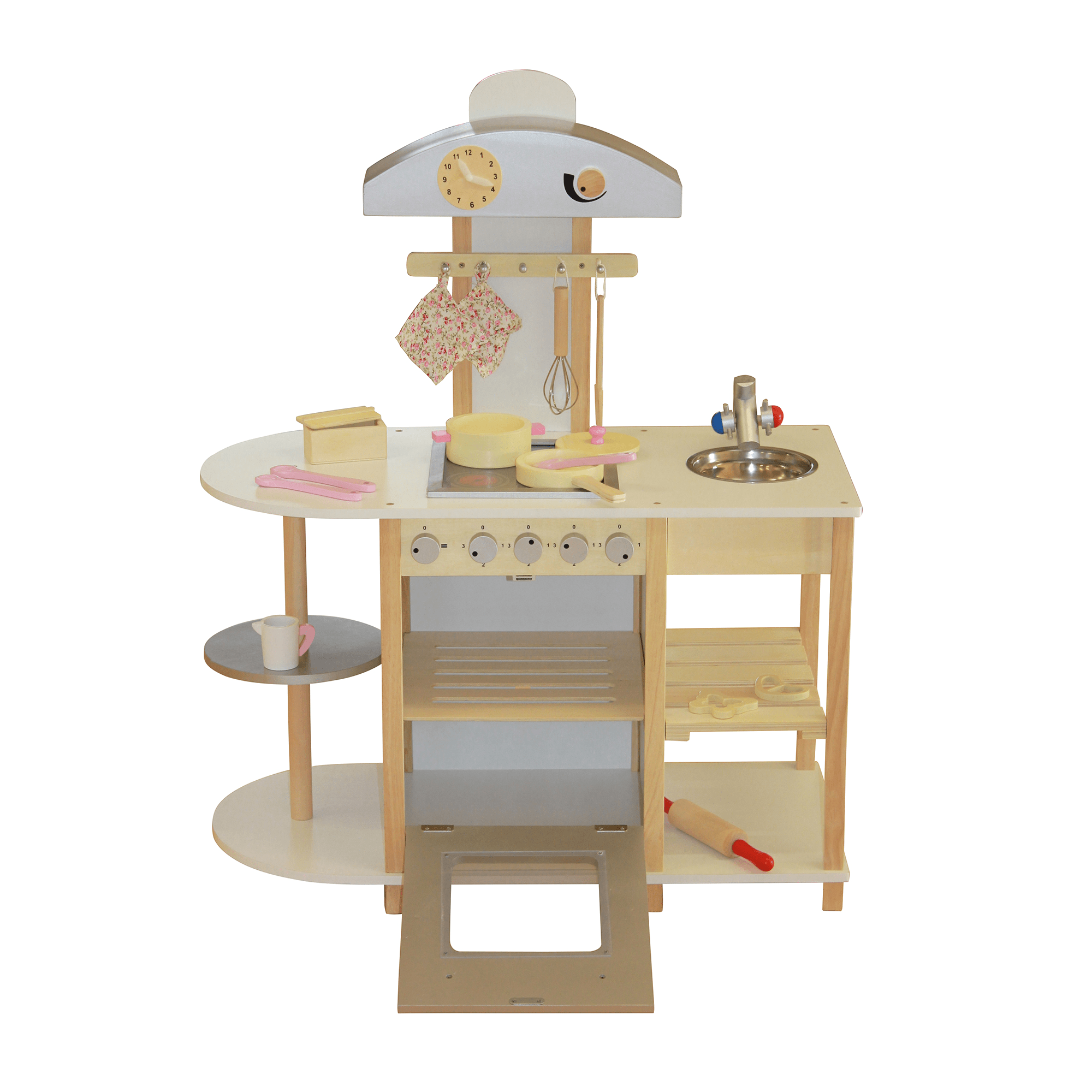 wooden toy kitchen contemporary chairs liberty house toys breakfast bar with accessories