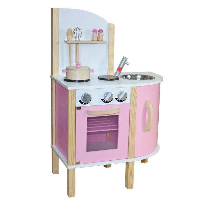 wooden toy kitchen cabinet layouts liberty house toys little chef contemporary pink with accessories