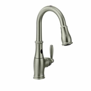 Moen 7185ESRS Brantford with one pulldown handle, MotionSense and Touchless Kitchen Faucet Image
