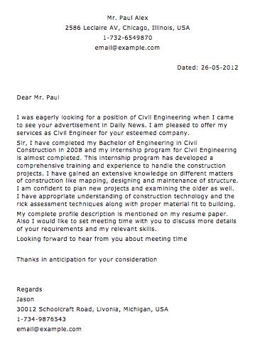 Sample Civil Construction Letter Smart Letters