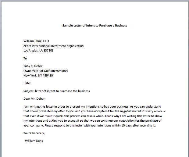 Investment Letter Of Intent.Legal Value Letter Of Intent Sample Customer Service Resume