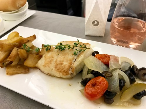 Turkish Airlines, Main Dinner Course, Cod