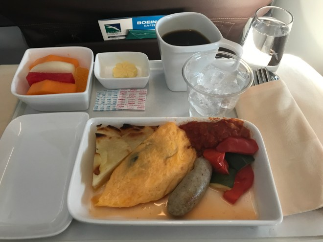 SilkAir Breakfast, Eggs and Sausage