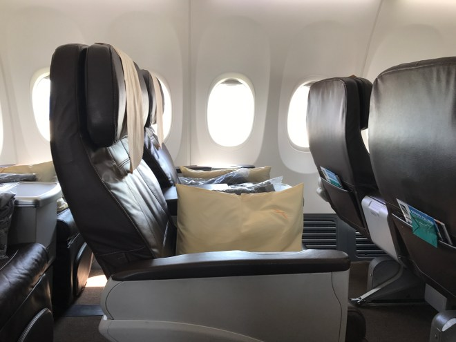 SilkAir Business Class Seating