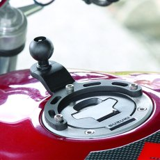 RAM motorcycle gas tank mount