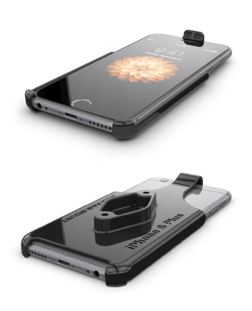 RAM iPhone 6 Plus Cradle WITHOUT CASE, SKIN OR SLEEVE with Diamond Ball Adapter