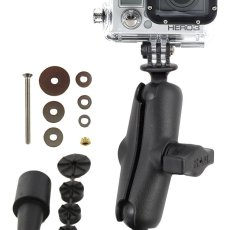 "RAM Fork Stem Mount and 1"" Diameter Ball with Custom GoPro® Hero Adapter"