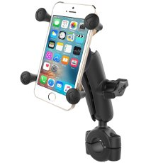"RAM® Torque™ 3/4"" - 1"" Diameter Handlebar/Rail Base with 1"" Ball, Medium Arm and X-Grip® for Phones"