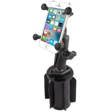 RAM-A-CAN™ II Universal Cup Holder Mount with Universal X-Grip® Cell/iPhone Cradle