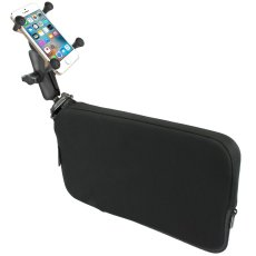 RAM Seat Tough-Wedge™ Mount with Double Socket Arm and X-Grip® Phone Holder