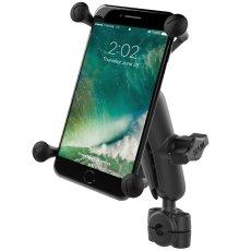 "RAM® Torque™ 3/8"" - 5/8"" Diameter Mini Rail Base with 1"" Ball, Medium Arm and X-Grip® for Larger Phones"