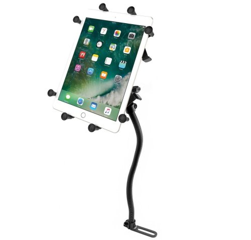"""RAM Pod No-Drill™ Vehicle Mount with Universal RAM® X-Grip® Cradle for 10"""" Large Tablets"""