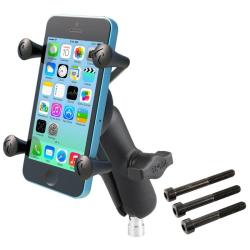 RAM® X-Grip® Phone Mount with Motorcycle Handlebar Clamp Base