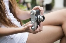 girl using a camera