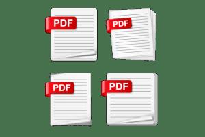 Image showing four PDF graphics