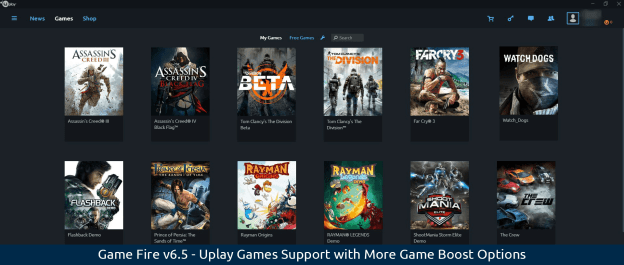 Game Fire v6.5 - Uplay Games Support with More Game Boost Options