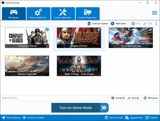 Game Fire v6.7 - Light Blue theme