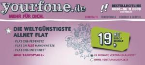 Yourfone: Flatrate für (fast) alles für knapp 20 Euro (Screenshot: SmartPhoneFan.de)