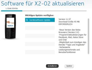 Software-Update für Nokia X2-02