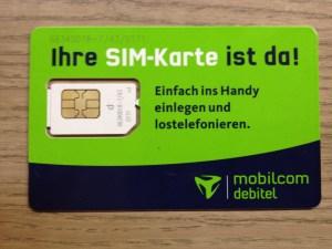 Daten-SIM von mobilcom-debitel