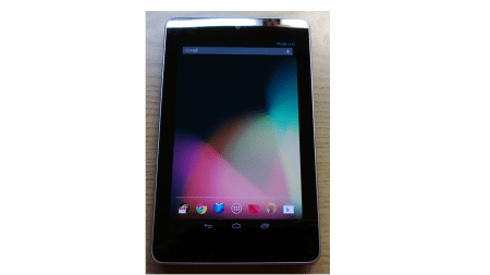 Google Nexus 7 nach dem Unboxing