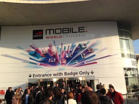 Eingang zum Mobile World Congress