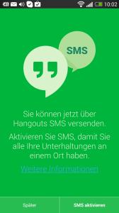 Neue Hangouts-App für Android installiert