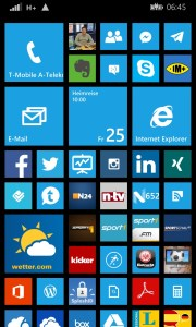 Homescreen am Nokia Lumia 1020