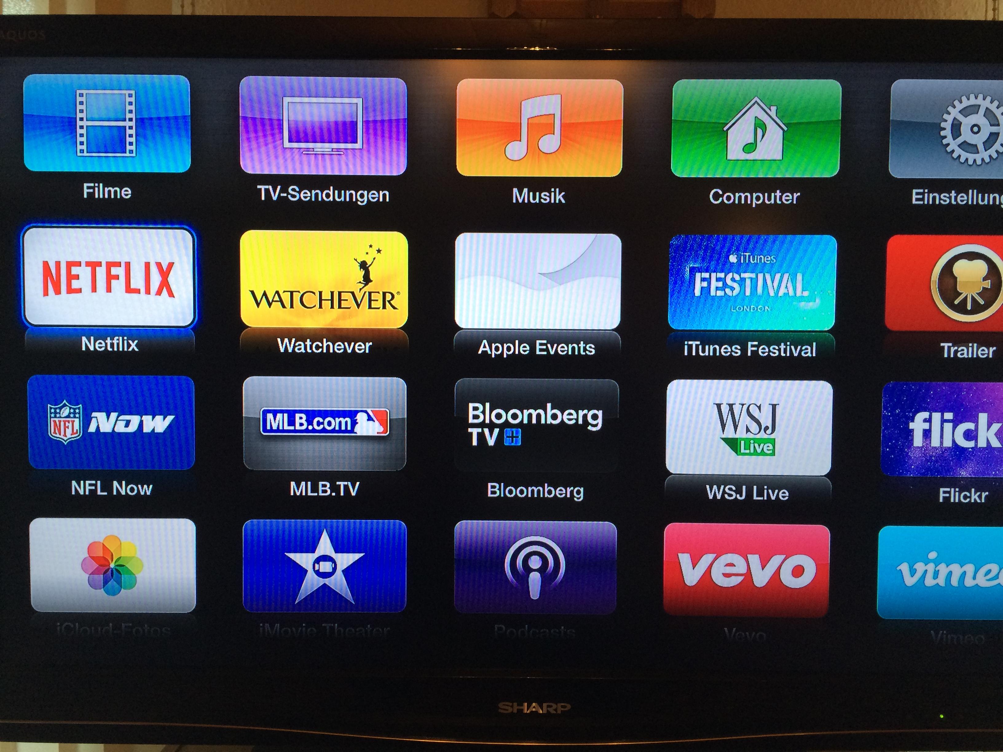 Netflix auf dem Apple-TV