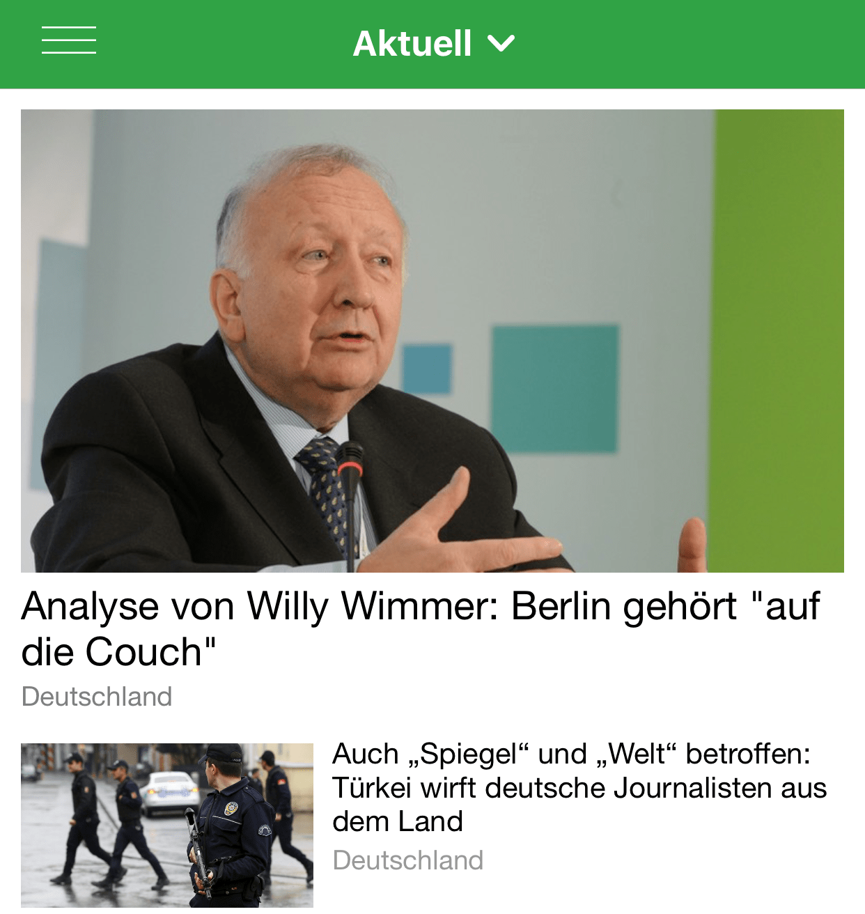 RT-News-App auf dem iPhone 6 Plus