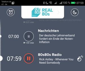 80s80s-App auf dem Huawei Mate 9