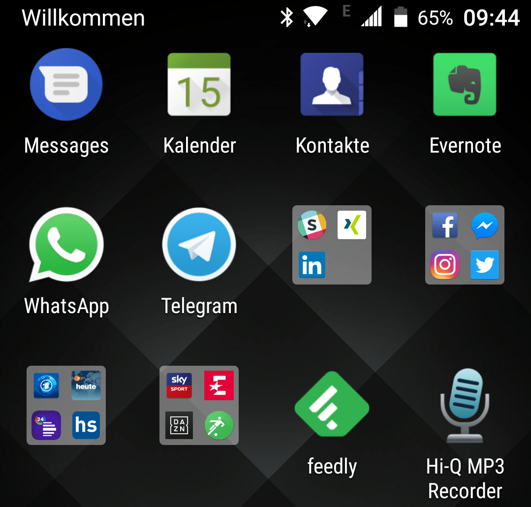 Bug beim Blackberry Launcher