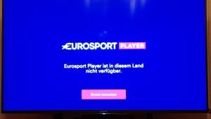 Aus Sicht des Eurosport Players bin ich offenbar im Ausland