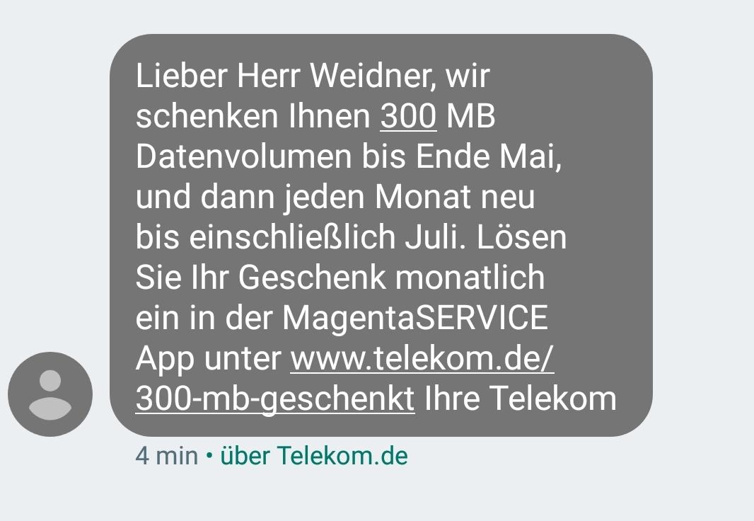 Realsatire Von Der Telekom 300 Mb Geschenk Trotz Echter Flatrate