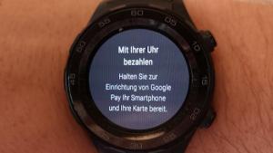 Google Pay auf der Huawei Watch 2 (Foto: SmartPhoneFan.de)