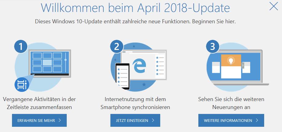Windows-10-April-Update angekommen