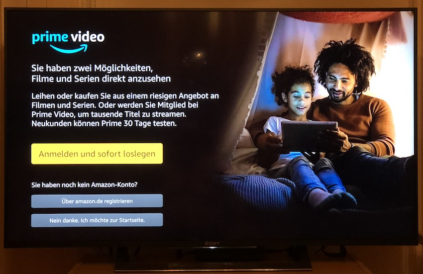 Amazon Prime Video bei EntertainTV (Foto: SmartPhoneFan.de)