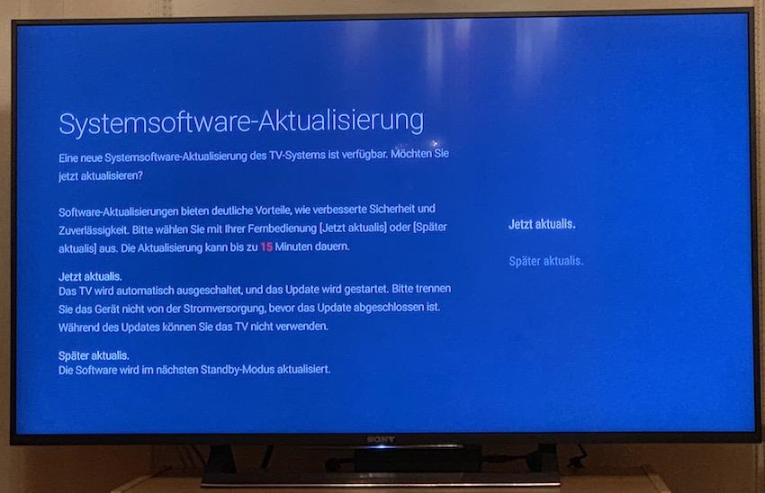 Update für Sony Smart-TV (Foto: SmartPhoneFan.de)