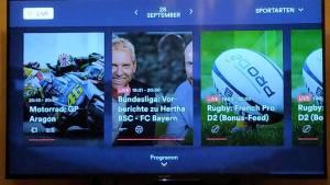 Eurosport Player auf dem Sony Smart-TV (Foto: SmartPhoneFan.de)