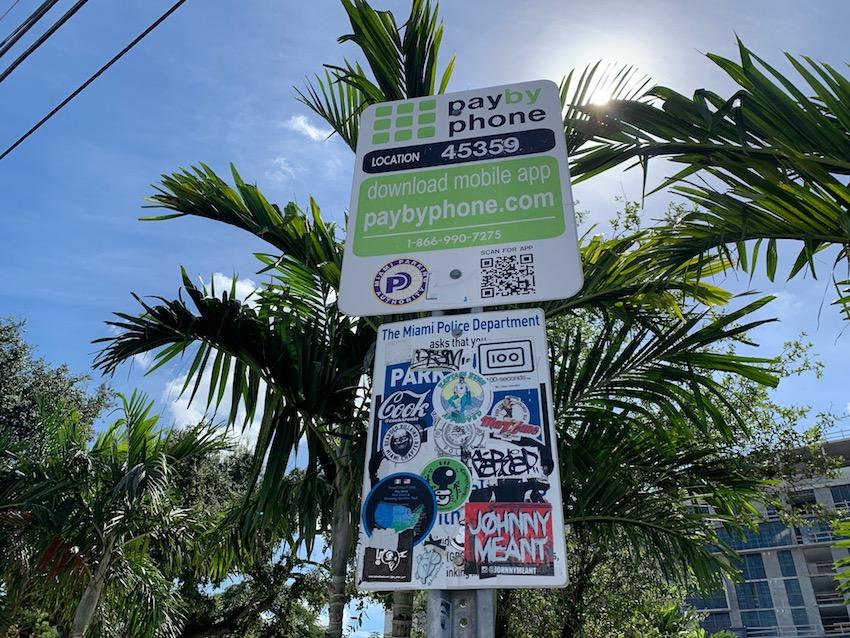 Handy-Parken in Miami (Foto: SmartPhoneFan.de)